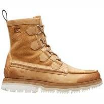 Sorel Men Atlis Caribou Waterproof Curry Sea Salt